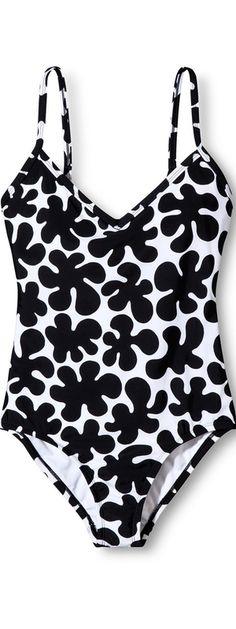 0aca94da404e3 Marimekko for Target Women s One Piece Swimsuit - Paprika Print - Black    Target