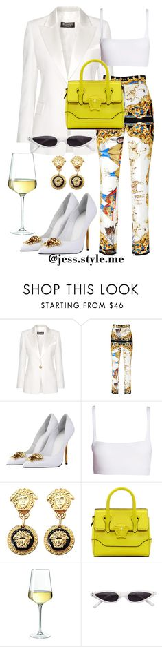 """""""Rooftop Brunch 🌤"""" by jessicarandle on Polyvore featuring Balmain, Versace and Dries Van Noten"""