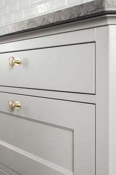 Kitchen Cabinetry, Kitchen Dining, Kitchen Decor, Marble Worktops, Cabinet Hardware, Home Kitchens, Shelving, Indoor, Storage