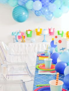 baby shark themed birthday party with free printables and ideas