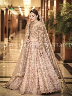 Covered up would have looked much better but oh well it's a pretty dress nonetheless Pakistani Frocks, Pakistani Formal Dresses, Indian Dresses, Shadi Dresses, Nikkah Dress, Salwar Dress, Indian Wedding Gowns, Bollywood Bridal, Wedding Attire