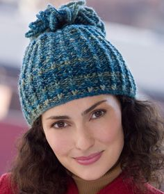 Looped Tassel Hat Knitting Pattern | Red Heart