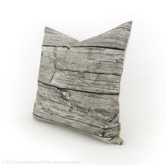 Barnwood Decorative Pillow Cover Wood Grain by ClassicByNature