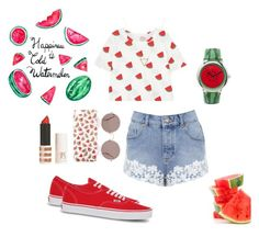 Watermelon by xiloveyoustyles on Polyvore featuring polyvore, moda, style, Miss Selfridge, Vans, ASOS, Wanderlust + Co, Monsoon, Sunday Somewhere and Topshop