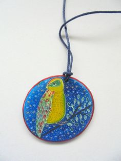 Bird by PuepueGuzaque on Etsy Washer Necklace, Artworks, Bird, Trending Outfits, Unique Jewelry, Handmade Gifts, Etsy, Vintage, Fashion