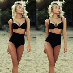Women High Waist Sexy Bikini Set Swimsuit Ladies Push-up Padded Beachwear #Unbranded #OnePiece