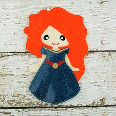 This listing is for one Meri doll with her dress.  Do you remember playing with paper dolls when you were growing up? This treasured concept is renewed in our Line of Non Paper Dolls! Each piece is made of felt on front and back.