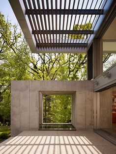 Hinsdale House by Wheeler Kearns Architects pergola