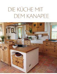 Nussdorfer Küchenhaus - Ihr Partner für Landküchen, Landhausküchen und moderne Küchen aus eigener Herstellung zwischen München und Salzburg, Rustikale Küchen in Handarbeit | Küche mit Kanapee
