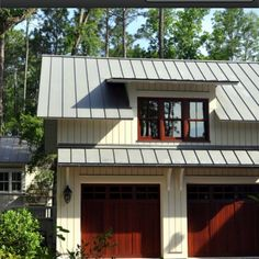 Gentil Awning Above Garage Doors!