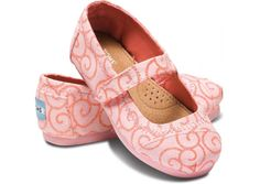 Pink Swirl Tiny TOMS Mary Janes hero for N's bday?