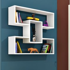 17 Stories This accent shelf is a creative accent shelf system for every room in the house. Unique Wall Shelves, Wall Mounted Corner Shelves, Wall Shelf Decor, Floating Wall Shelves, Room Shelves, Diy Wall Decor, Home Decor, Bookshelf Design, Wall Shelves Design