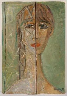 СООСТЕР Юло Ильмар Йоханнесович (1924–1970) Портрет. 1959. Картон, масло. 50,8 x…