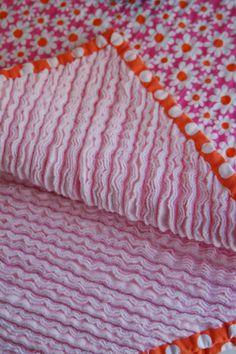 Chenille quilt blanket