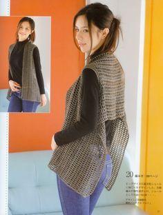 La mini-capa, capelet o poncho Crochet Bolero, Cardigan Au Crochet, Pull Crochet, Gilet Crochet, Crochet Coat, Crochet Jacket, Crochet Clothes, Vest Pattern, Crochet Patterns