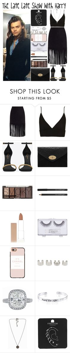 """""""The Late Late Show with Harry"""" by heaven-139 ❤ liked on Polyvore featuring ThePerfext, Topshop, Yves Saint Laurent, Mulberry, H&M, Maybelline, Sonia Kashuk, Casetify, Maison Margiela and Disney"""