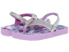 Reef Kids Little Ahi Stars (Infant/Toddler/Little Kid/Big Kid) Purple/Silver Hearts - Zappos.com Free Shipping BOTH Ways  size 11-12
