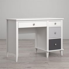 deluxe wooden home office. Exellent Deluxe Little Seeds Monarch Hill Poppy Desk White And Grey Home Office Decor  Intended Deluxe Wooden Home Office