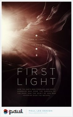 This is a lot like the other poster, but what I like about this one is that the background looks like a sun and clouds, while the smoke/cloth objects are coming out of the sun and moving around the cover. Once again the thin font works well with the design and look of this.