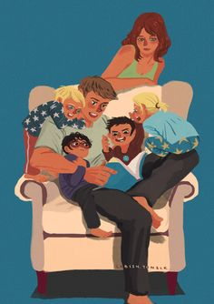 How cute is this?  Crowded armchair by ~yenee96 on deviantART