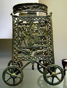 Minoan bronze stand, c.1400BC  Cyprus, exhibited at The British Museum