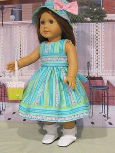 """Easter Fun Set for Lea, Kit, Molly. Maryellen 18"""" American Girl Doll Clothes #Handmade #DollClothes"""