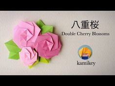 Jpapanese Origami creator kamikey' s original origami works and traditional models. I like to create kawaii origami. Origami Design, Diy Origami, Gato Origami, Origami Wedding, Origami And Kirigami, Origami Rose, Origami Dragon, Fabric Origami, Paper Crafts Origami