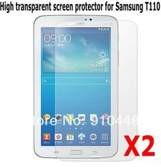 Free shipping 2Pcs High transparent Clear Lcd Screen Protector Film for Samsung Galaxy tab 3 Lite 7.0 T110 T111 with retail Box #Affiliate
