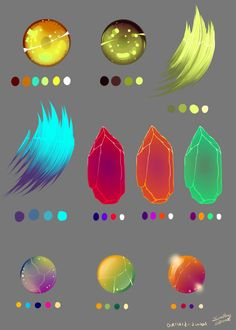 Misc Color Swatches by Overlord-Jinral.deviantart.com on @deviantART