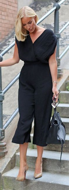 Petra Tungarden Black Cute Jumpsuit