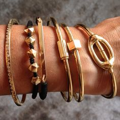 Gold bracelets from  the new jewels from Luis Morais