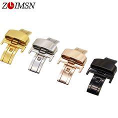 $5.37 (Buy here: https://alitems.com/g/1e8d114494ebda23ff8b16525dc3e8/?i=5&ulp=https%3A%2F%2Fwww.aliexpress.com%2Fitem%2F14mm-Gold-Polished-Butterfly-Deployment-Watch-BAND-Strap-Clasp-K01g%2F739862575.html ) 14mm Gold Polished Butterfly Wristwatch Deployment Metal Buckle Pleasing Watch Clasp Button Relojes Montre Fivela Fermoir 2016 for just $5.37
