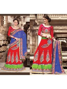 Dress yourself traditionally with this highly silk-embroidered zari saree oline beautifully crafted with stone work and patch patta work to give flaunt look. Heustyle can meet good combination with unstitched maroon blouse and royal blue dupatta.