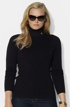 Lauren Ralph Lauren Cotton Turtleneck (Plus Size) available at #Nordstrom