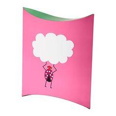 ÖVERLÄGSEN gift box, pink Length: 29 cm Width: 24 cm Height: 5 cm
