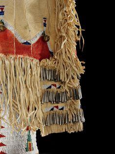 Woman dress, Southern Cheyenne, c.1930. Detail.