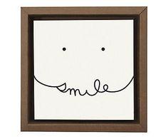 Gravura Digital Smile - 26x26cm