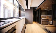 m space-saving apartment interior - Viskas apie interjerą Apartment Interior, Apartment Design, Apartment Therapy, Apartment Renovation, Apartment View, Urban Apartment, Apartment Ideas, Tiny Apartments, Intelligent Design