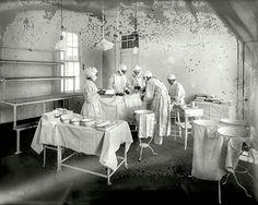 1915 Sala de operaciones del Washington Ayslum Hospital