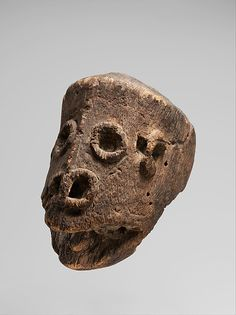 Head, 19th century. Probably Gope people, Papua New Guinea. The Metropolitan Museum of Art, New York. The Michael C. Rockefeller Memorial Collection, Bequest of Nelson A. Rockefeller, 1979 (1979.206.1580) #Halloween