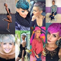 Creatief met kleur: 10 super gave kleurrijke korte kapsels! - Kapsels voor haar