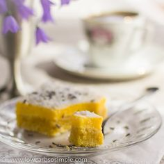 Luscious Low-Carb Lavender Lemon Bars - Low-Carb, So Simple! -- gluten-free, sugar-free recipes with 5 ingredients or less
