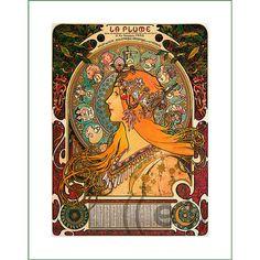 fabric panel - painting by Alphonse Mucha (42) - v.B