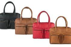 Leren Burkely tas in 7 kleuren