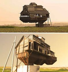 An optical illusion? Trick of Photoshop? Nobody really seems to know much about this supposed 'floating barn' which was reportedly located in Ukraine and may or may not still be standing.