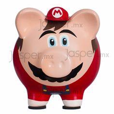 Alcancía cerdito de cerámica - Super Mario
