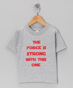 Take a look at this Athletic Heather 'The Force' Tee - Toddler & Kids by KidTeeZ on #zulily today!