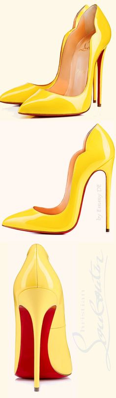 Christian Louboutin ~ 'Hot Chick' Spring Stiletto Pumps, Canary 2015