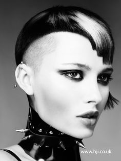 Shaun Hall of Mark Leeson, Chesterfield, is a finalist for HJ's 2015 Midlands Hairdresser of the Year. Here we share his collection in full for the first tim Short Hair Cuts, Short Hair Styles, Hair Expo, Bald Girl, Hair Magazine, Bowl Cut, Hair Art, Cut And Color, Hair Designs