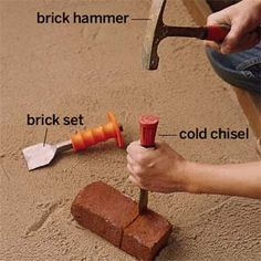 How to hand cut a paving brick